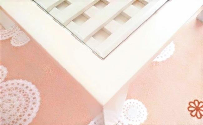 テーブルの角のイメージ
