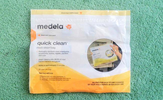 「medela 電子レンジ除菌バッグ クイッククリーン スチームバッグ」