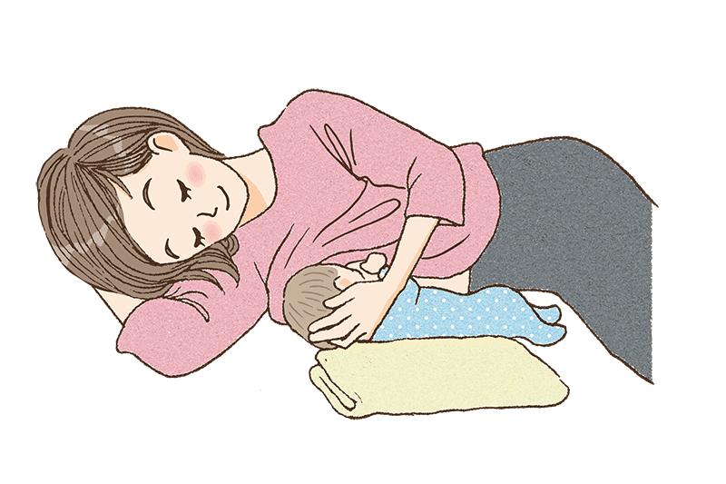 添え乳で授乳しているママのイメージ