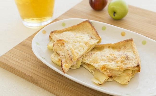 管理栄養士監修レシピ「りんごチーズサンド」