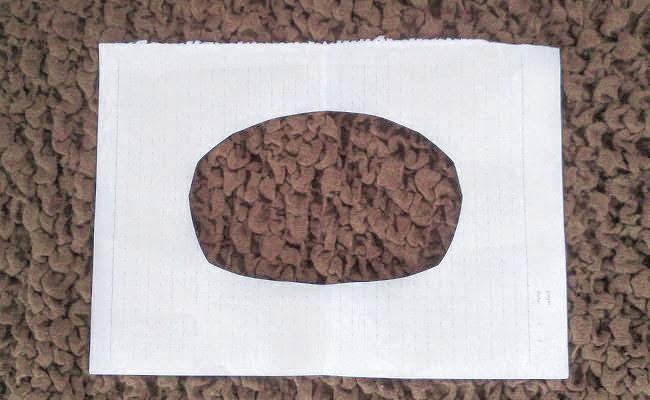 のぞきっこ遊びに使う紙のイメージ
