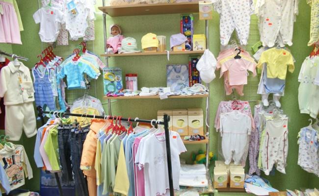 赤ちゃんの洋服店のイメージ