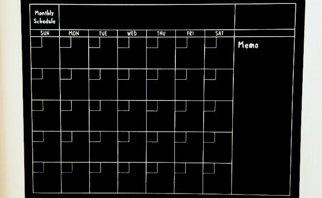 ダイソー「黒板スケジュールシート」