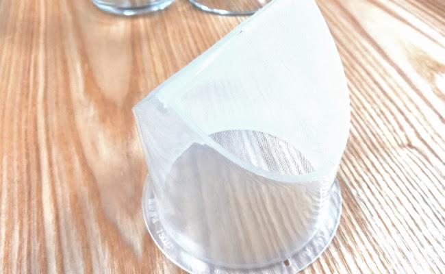耐熱ガラスポット「セレックVポット」のフィルタ