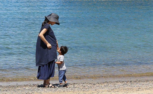 妊婦さんと幼児