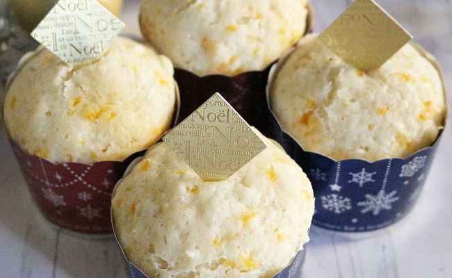 9~11カ月ごろ(離乳食後期)のレシピ「みかんとヨーグルトの蒸しパン」