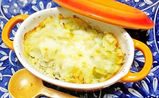 9〜11カ月ごろ(離乳食後期)のレシピ「そら豆とじゃがいものグラタン」