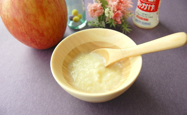 【離乳食中期】林檎と蕪の豆乳ポタージュ