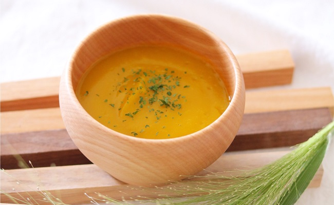 1歳~1歳6カ月ごろ(離乳食完了期)のレシピ「かぼちゃのポタージュスープ」