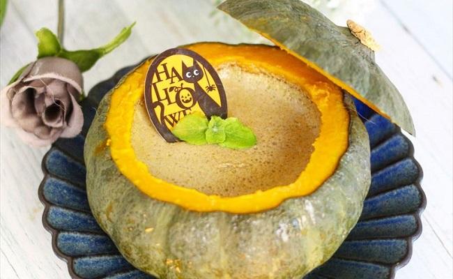 9~11カ月ごろ(離乳食後期)のレシピ「丸ごと坊ちゃん南瓜の黒ゴマプリン」