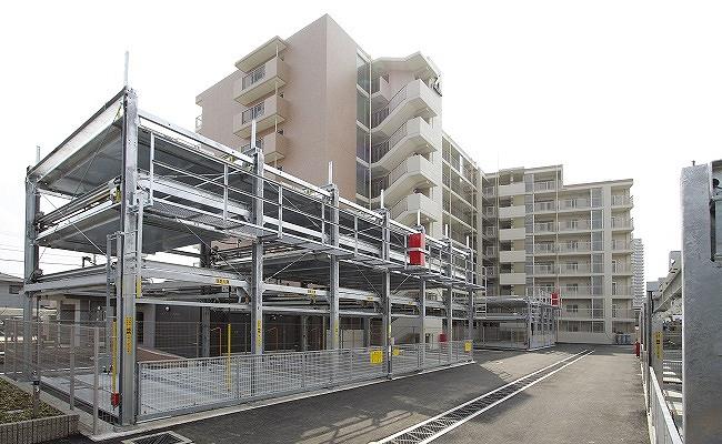 マンションの立体駐車場