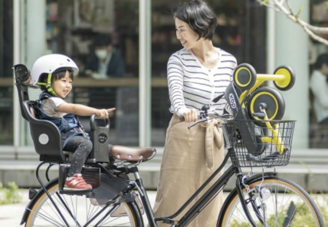 自転車の前かごにも入る