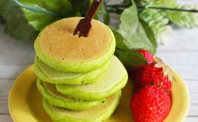 【離乳食後期】ほうれん草のパンケーキ