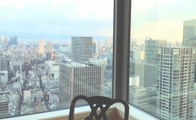 ホテルから景色