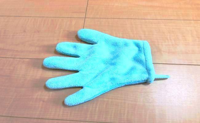 ダイソー髪乾燥手袋タオル
