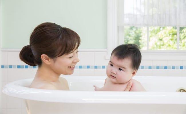 赤ちゃんとママ お風呂