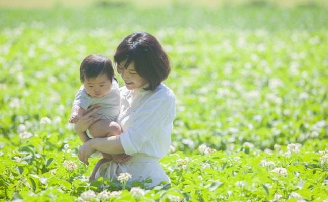植物と赤ちゃんのイメージ