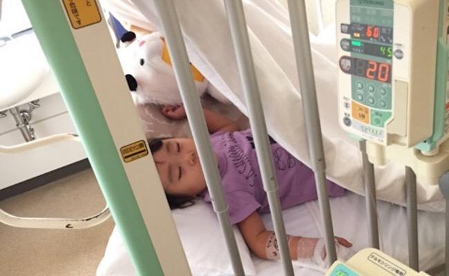 入院中の子どものイメージ