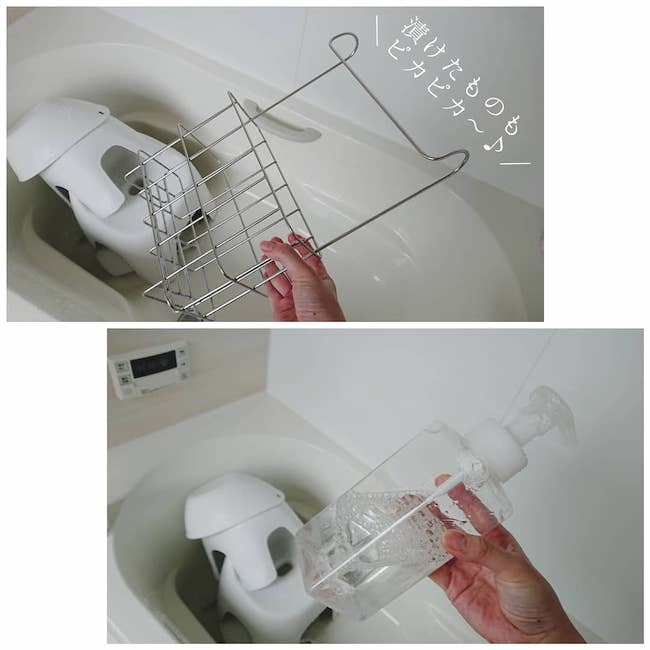 浴槽と追い焚き配管をオキシ漬け