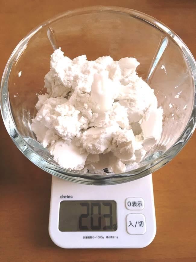 ココナッツクリームを混ぜる