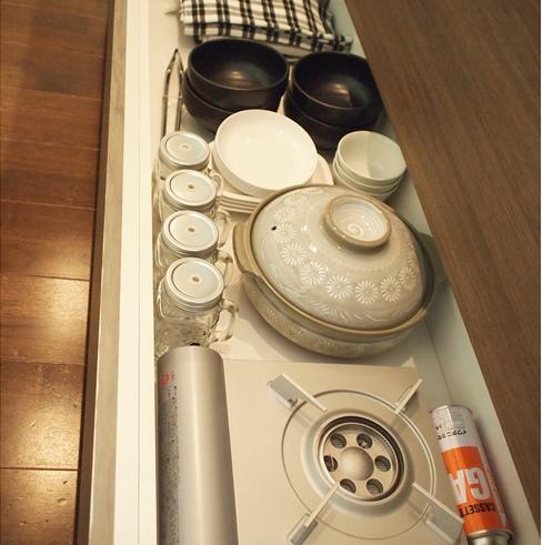 キッチンの引き出し収納