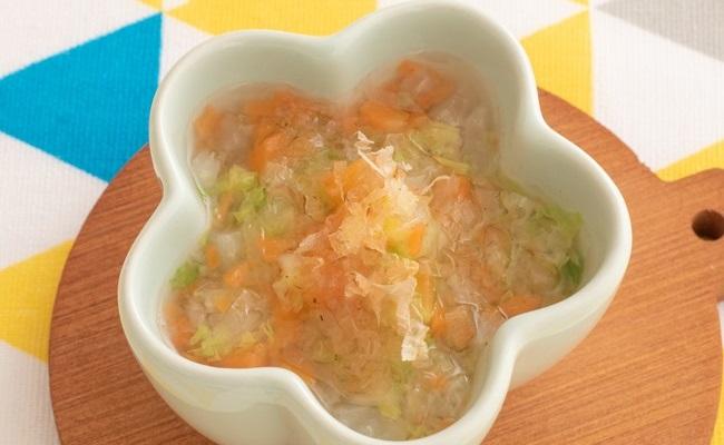 7~8カ月ごろ(離乳食中期)のレシピ「白菜と大根の煮物」