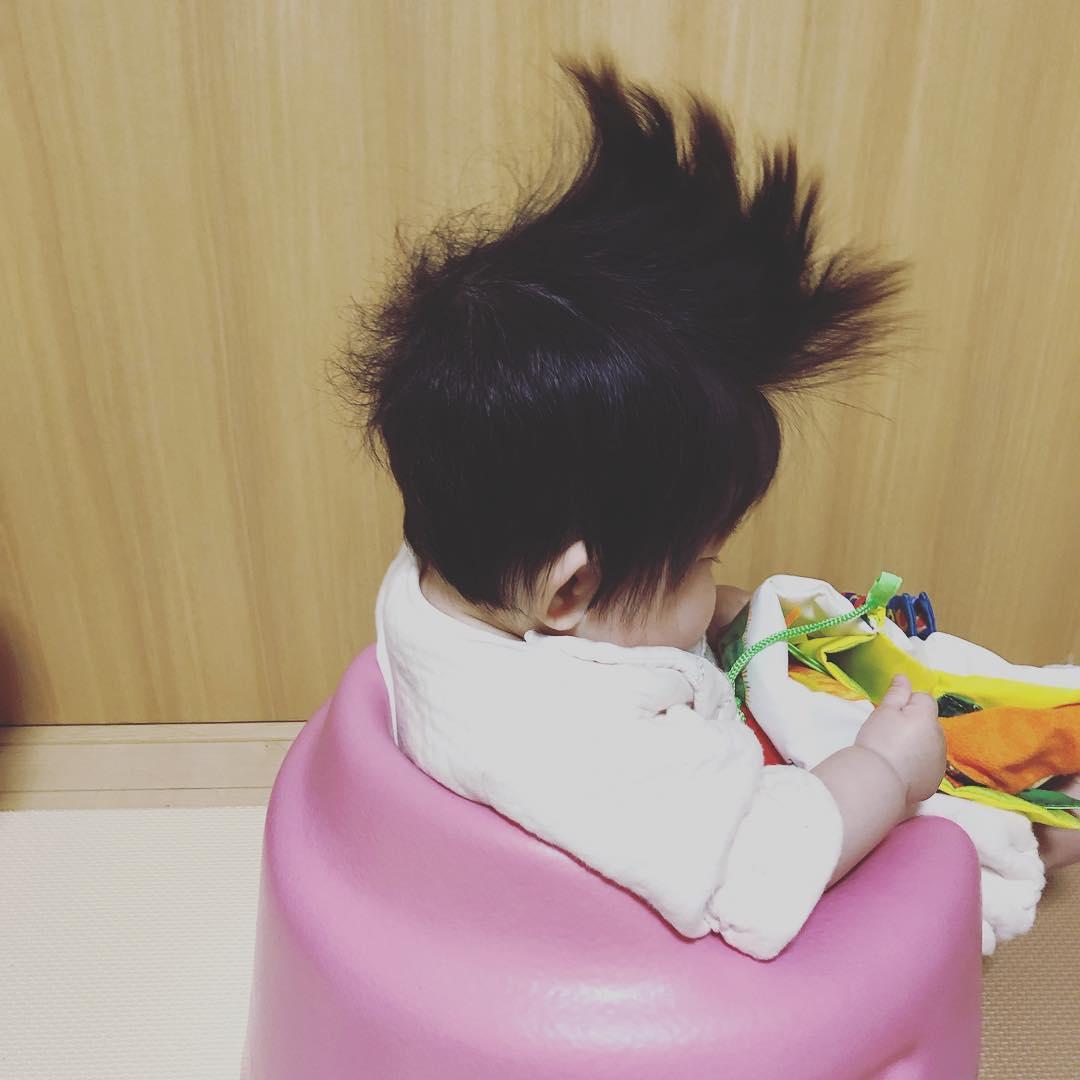#爆毛赤ちゃん