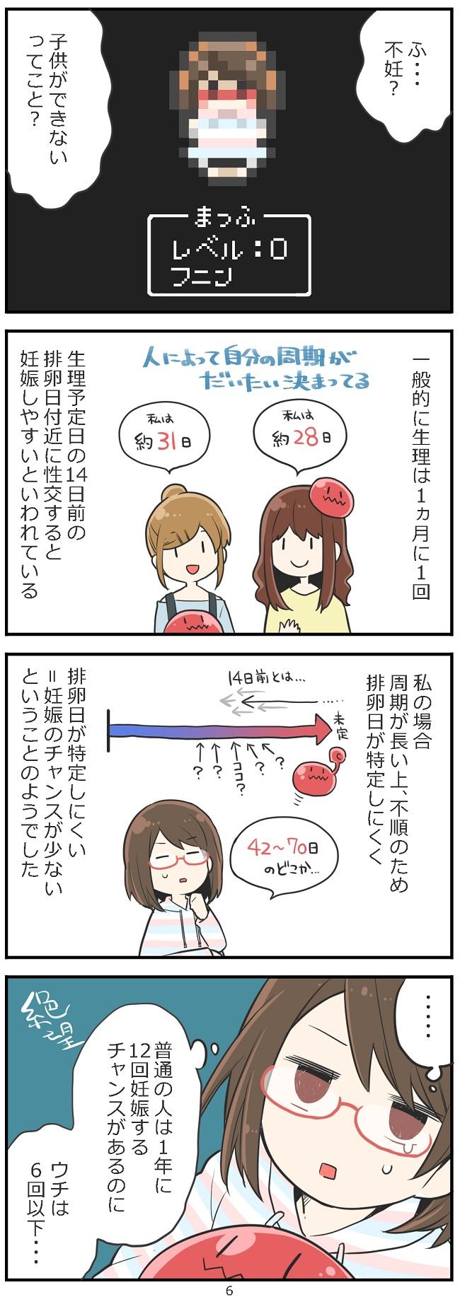 「妊活レベル1 まっふの冒険記」第6話