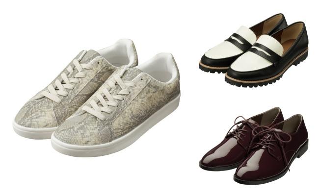 GUフラット靴