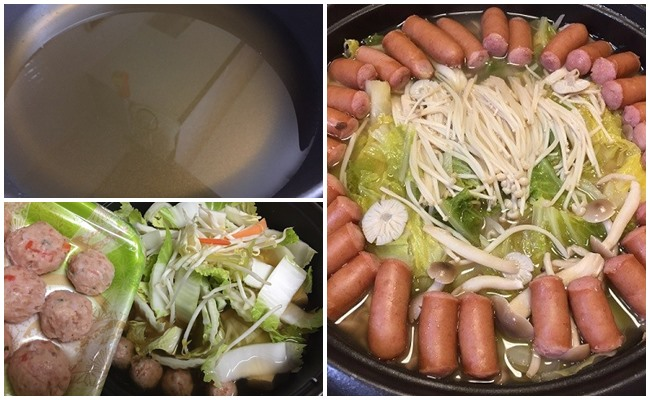業務スーパーの鶏野菜鍋