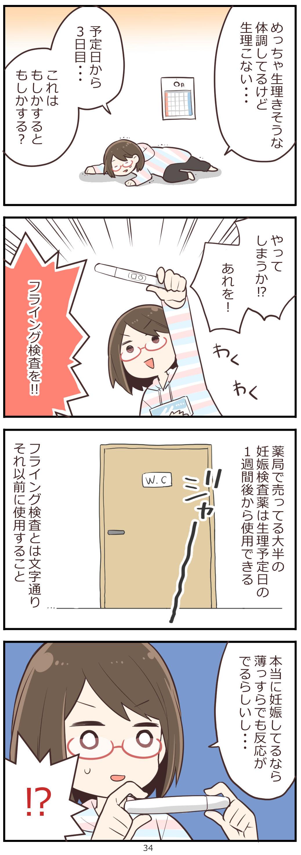 「妊活レベル1 まっふの冒険記」第34話