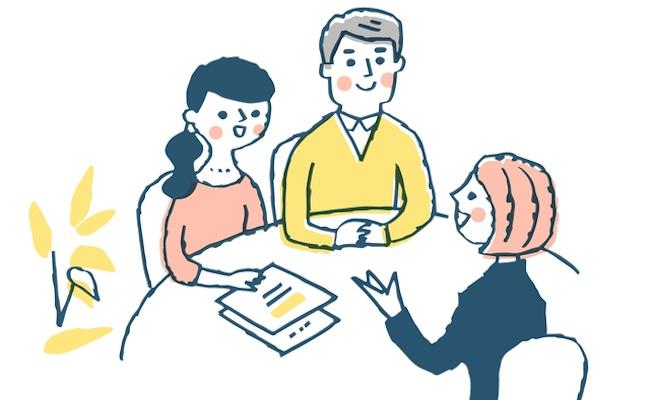 子どもに必要な保険を検討する夫婦のイメージ