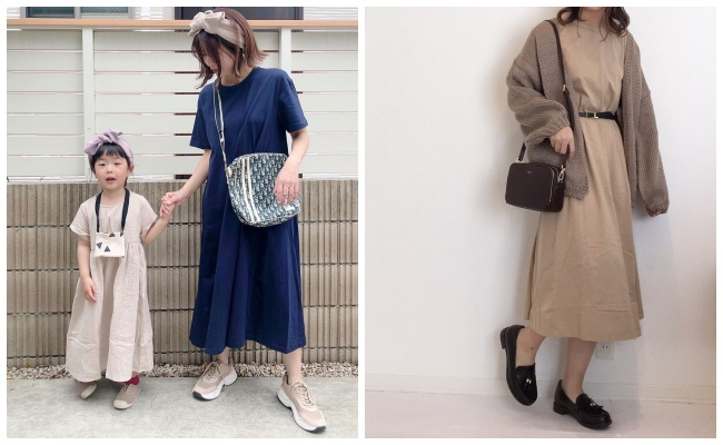 【GU】体型カバーも!990円のAラインワンピが「おうち服」に最適♡