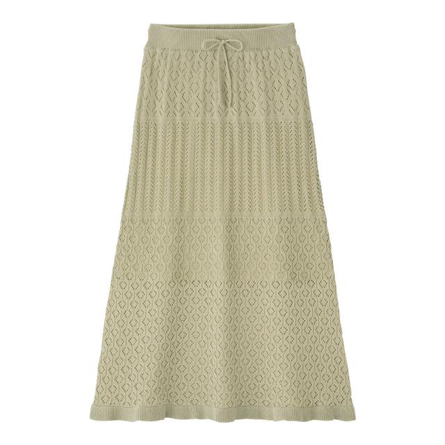 GU 透かし編みニットスカート(セットアップ可能)