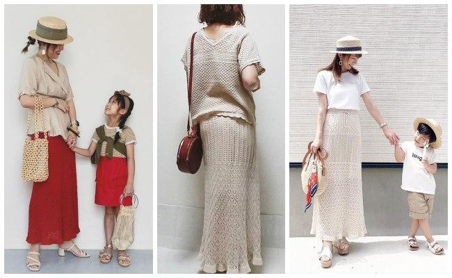【GU】即買いすべし!大ヒットした透かし編みニットスカートが再登場♡