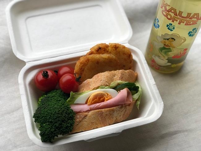 業務スーパー ハッシュドポテト入りサンドイッチ