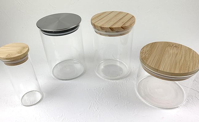 ダイソーガラスキャニスター