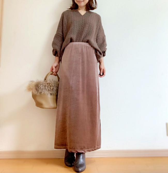 【しまむら】ベロアマキシスカート