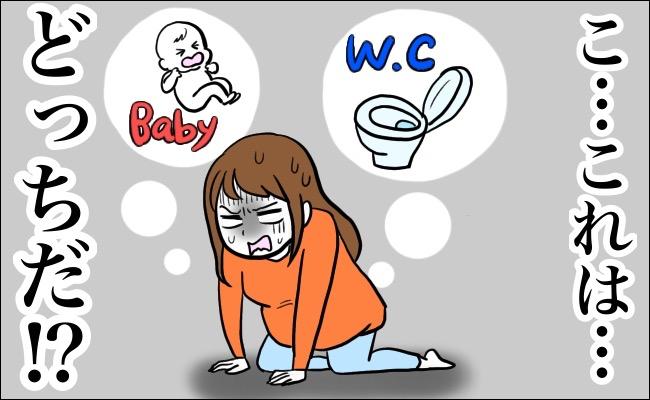 お産とうんちを迷う妊婦さん