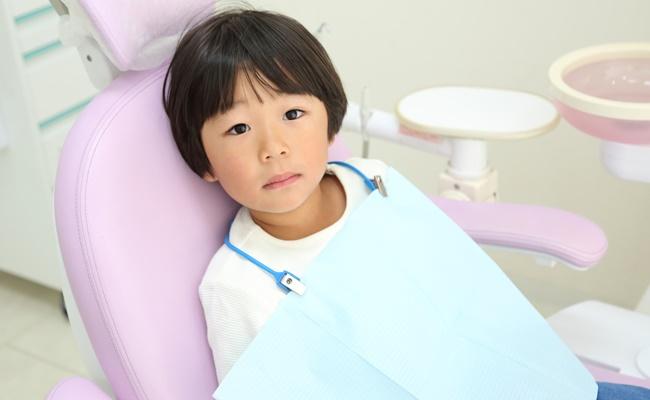 歯医者さんでの男の子