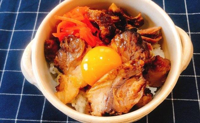業務スーパー 煮豚豚丼