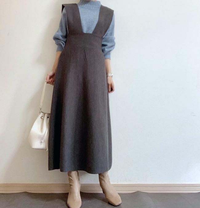 【しまむら】フレアジャンパースカート