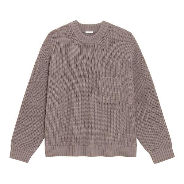 【GU】ローゲージワイドフィットクルーネックセーター(長袖)NT+E