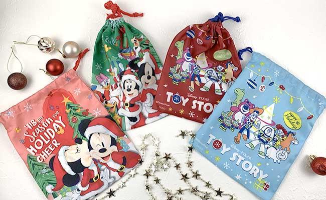 ディズニークリスマス巾着袋