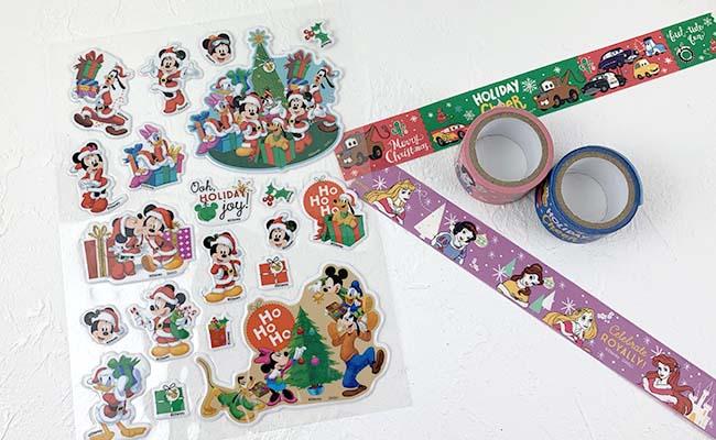 ディズニークリスマスぷっくりシール&マスキングテープ