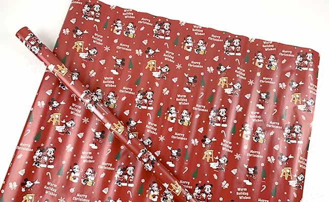 ディズニークリスマス包装紙