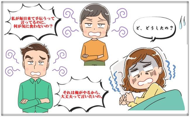 退院した日に夫と義母がまさかの大喧嘩!