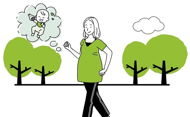 妊娠が判明してから始めた散歩!