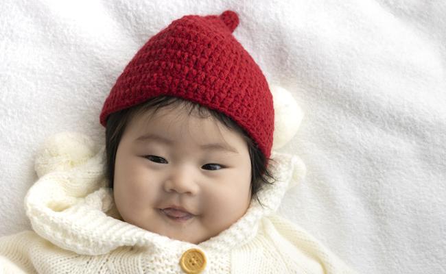 冬服を着た赤ちゃんのイメージ