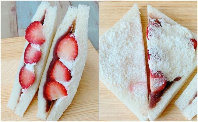 ローソン 苺とあんこの和サンド